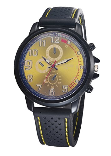 Bear Motion Design Casual Sport Armbanduhr wh078 mit Zifferblatt Gelb Teller