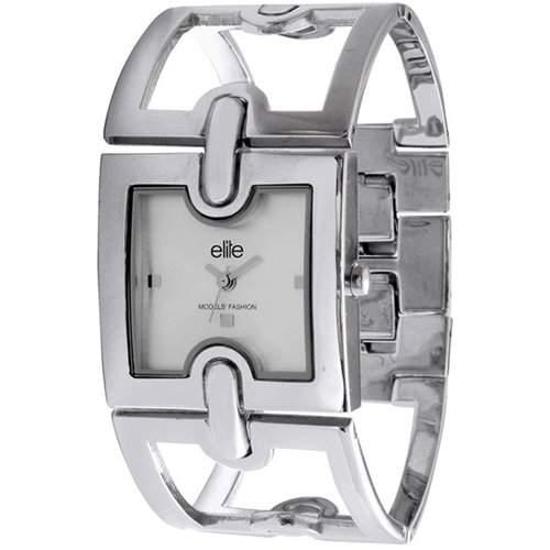 Elite Damen-Armbanduhr Brenda Analog Edelstahl silber E50354004