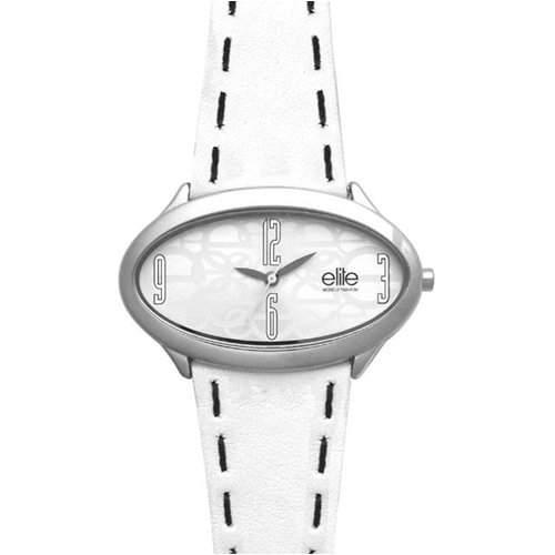 Elite Damen-Armbanduhr Rachel Analog Leder weiss E50622001