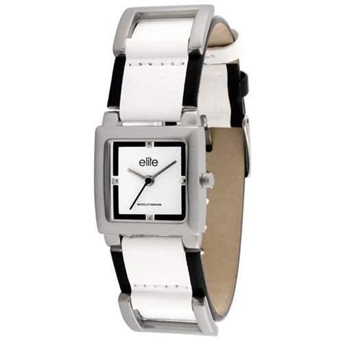 Elite Damen-Armbanduhr Julie Analog Kunststoff weiss E50992201