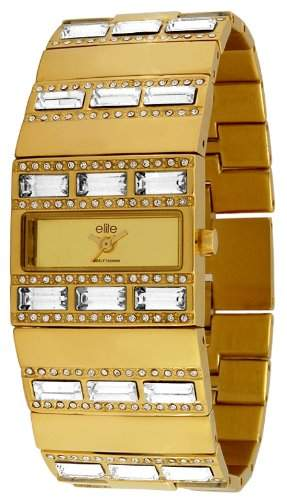 Elite Models Fashion - e51414g-101 Damen-Armbanduhr 045J699 Analog gold Armband Stahl Gold