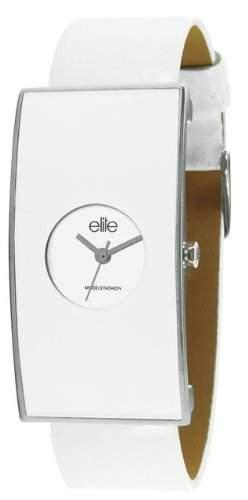 Elite Damen-Armbanduhr Analog Formgehaeuse weiss E51712201