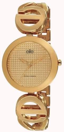 Elite Damen-Armbanduhr Analog Formgehaeuse Gold E52094101