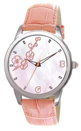 Elite E52982005 Damen-Armbanduhr Minny Quarz analog Leder Rosa