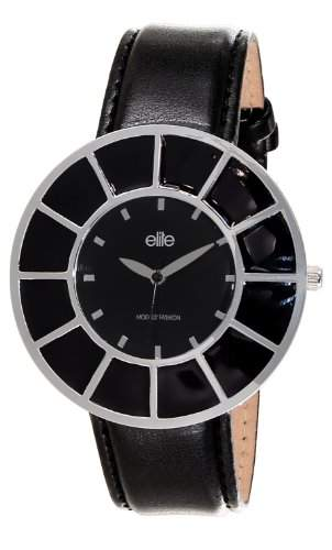 Elite ModelsFashion-E 53172-203 Damen-Armbanduhr Lolla Quarz analog Leder Schwarz