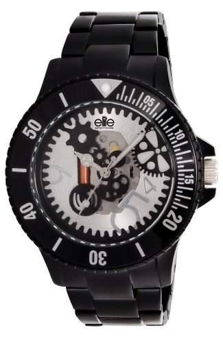 Elite Damen-Armbanduhr E53284-003 Analog Quarz Schwarz E53284-003