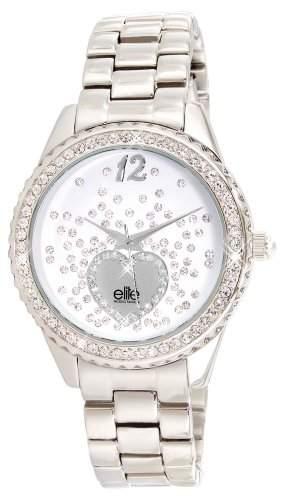 Elite ModelsFashion-E 53354-201 Damen-Armbanduhr Alyce Quarz analog Stahl Silber