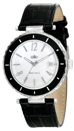 Elite Damen Armbanduhr E53332 212 Analog Quarz Schwarz E53332 212