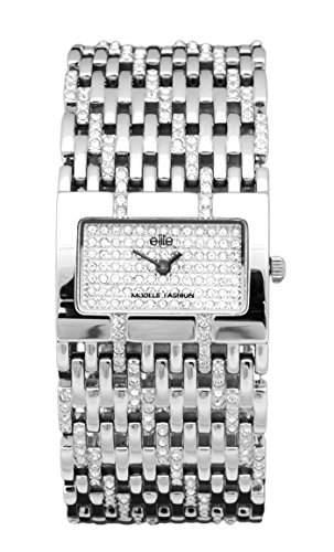 Elite Damen-Armbanduhr Analog Quarz Edelstahl E51144-251