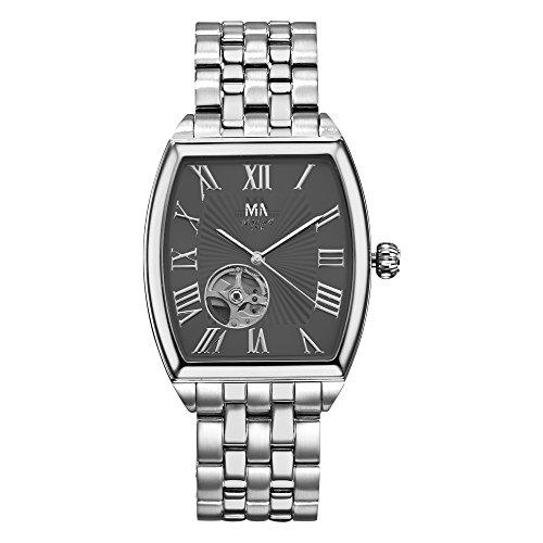 Meister Anker Unisex Uhr 22cm Rubin schwarz Automatik Mineralglas 490000127