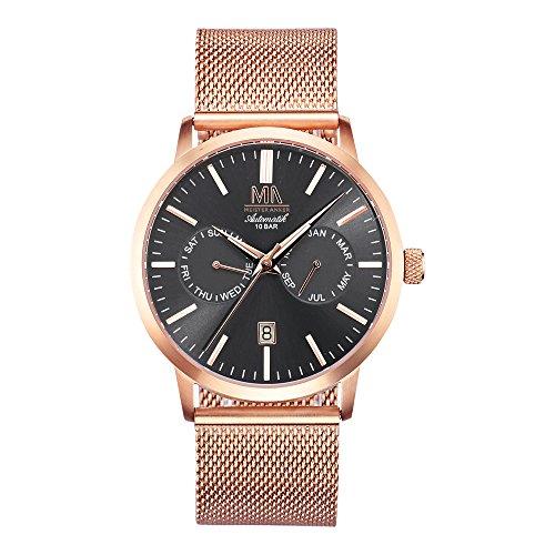 Meister Anker 24cm Rubin rot Uhren Automatik Mineralglas 490000017