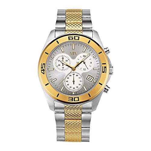 Meister Anker Herren Armbanduhr 23cm Silbergrau Chronograph Mineralglas 490000006
