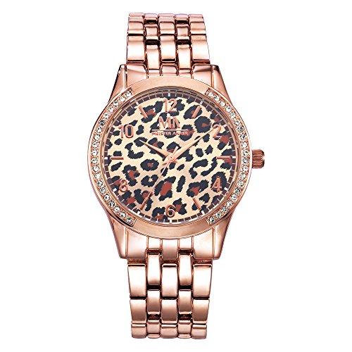 Meister Anker Damen Quarzuhr Metall 21cm rosa Quartz Mineralglas 490000076