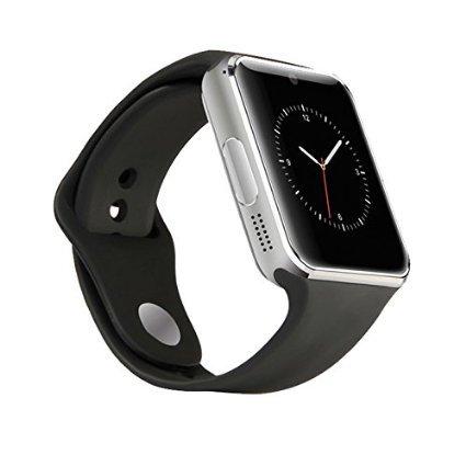 Colofan C08 M nner und Frauen Mode Bluetooth Smart Uhren k nnen Telefon und Kamera Sport Uhr Silber mit schwarzem Band