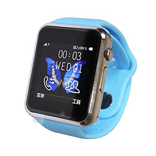 Colofan C06 M nner und Frauen Modus Bluetooth Smart Uhren can Telefon und Kamera Sport Uhr Gold mit rotem Band