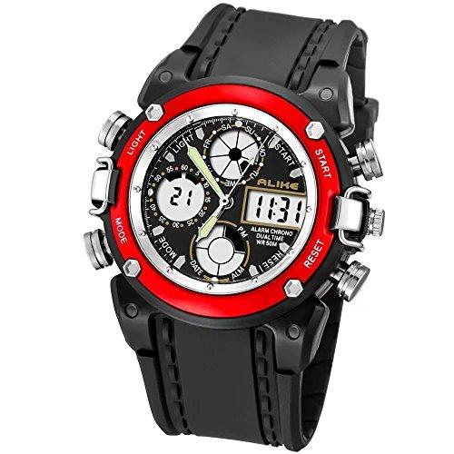 Colofan Jungen und Mdchen Uhr Luminous Multifunktions wasserdichte Uhr Ak7110 Outdoor Sports rot