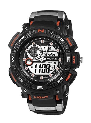 Colofan Ak 1389 Sportspiel Modesport Digital Quarz beil ufiges Kleid wasserdichte Armbanduhr Wanderung beobachten orange