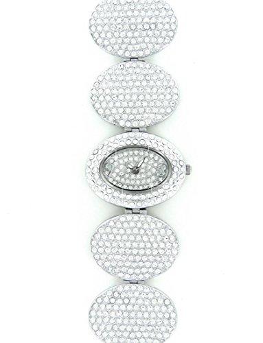 Jolie zeigt Damen Stahl Silber mit 500 CZ Swarovski Kristallen Ename 1727