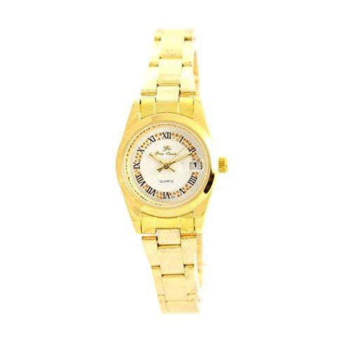 Zeigt Damen Armband Stahl Gold Ename 410