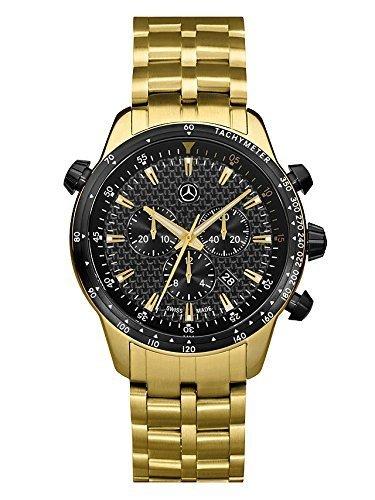 Armbanduhr Herren MSP Chrono Gold Edition gold schwarz Edelstahl Carbon PVD beschichtet