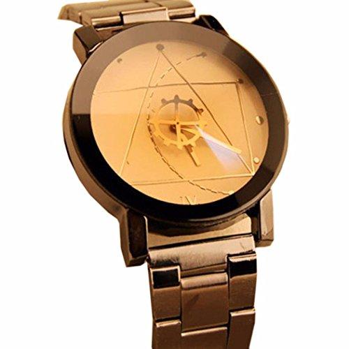 Maenner Uhren Bluestercool Maenner Art und Weise Edelstahl Quarz analoge Armbanduhr Weiss
