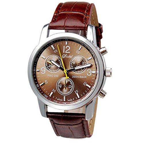 Maenner Uhren Bluestercool Maenner Luxusmode Krokodil Leder analoge Uhr