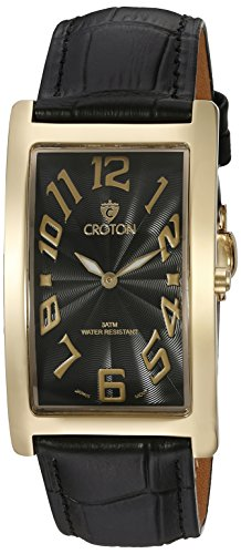 Croton Herren cn307533ylbk Aristocrat Analog Display Quartz Black Watch