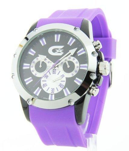 Kroton ChronoGraph 3 Auge Scharfe Lila Gummi Watch CX328023SSPP
