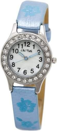 Cactus Maedchen-Armbanduhr Analog blau CAC-34-L04
