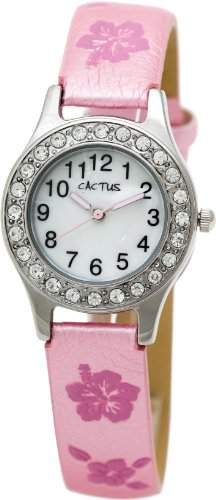 Cactus Maedchen-Armbanduhr Analog pink CAC-34-L05
