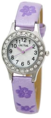 Cactus Maedchen-Armbanduhr Analog violett CAC-34-L09