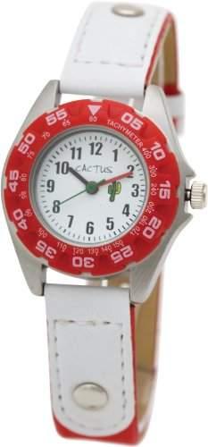 Cactus Kinder-Armbanduhr Analog Nylon rot CAC-36-M07