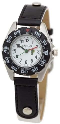 Cactus Jungen-Armbanduhr Analog Nylon weiss CAC-36-M11