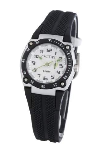 Cactus Kinder-Armbanduhr Analog Nylon schwarz CAC-37-M01