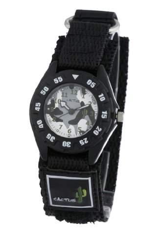 Cactus Jungen-Armbanduhr Analog Nylon schwarz CAC-38-M01