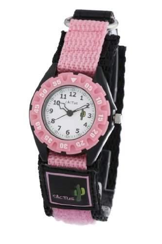 Cactus Maedchen-Armbanduhr Analog Nylon pink CAC-38-M05