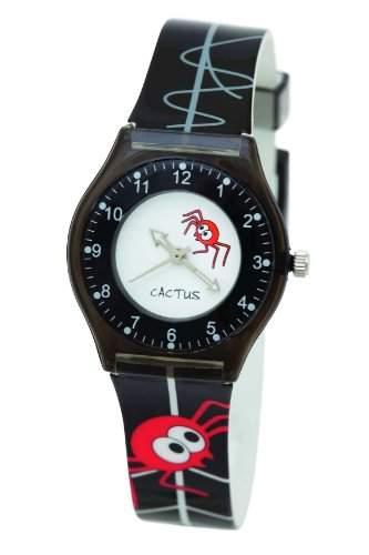 Cactus Jungen-Armbanduhr Analog Kunststoff schwarz CAC-39-M01