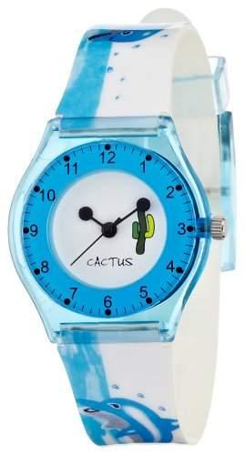 Cactus Kinder-Armbanduhr Analog Kunststoff weiss CAC-39-M04