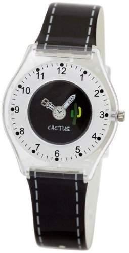 Cactus Unisex-Armbanduhr Analog Kunststoff schwarz CAC-40-L14