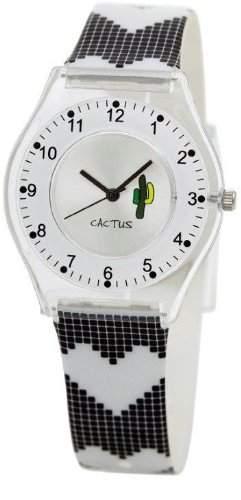 Cactus Maedchen-Armbanduhr Analog Kunststoff schwarz CAC-40-L15