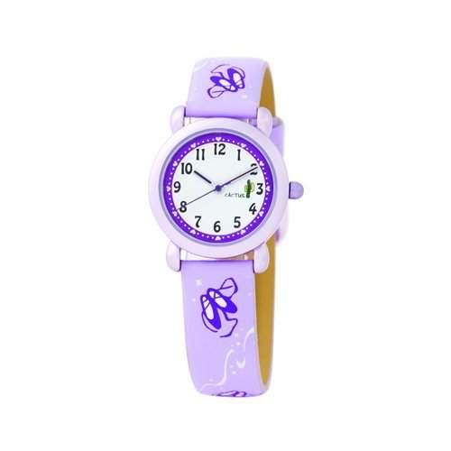 Cactus Maedchen-Armbanduhr Analog Kunststoff violett CAC-41-L09