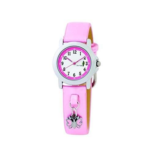 Cactus Maedchen-Armbanduhr Analog Kunststoff pink CAC-44-L05