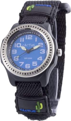 Cactus Kinder-Armbanduhr Analog Quarz Schwarz CAC-45-M03