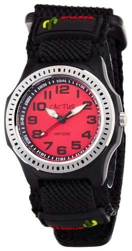 Cactus Kinder-Armbanduhr Analog Textil schwarz CAC-45-M07