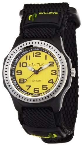 Cactus Kinder-Armbanduhr Analog Textil schwarz CAC-45-M10