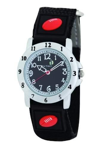 Cactus BoyQuarz Analog Armbanduhr CAC - 48-M14 schwarz mit Klettverschluss Nylon-Gurt