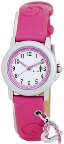 Kaktus-CAC - 52-L05 Maedchen-Armbanduhr Analog Plastik rosa