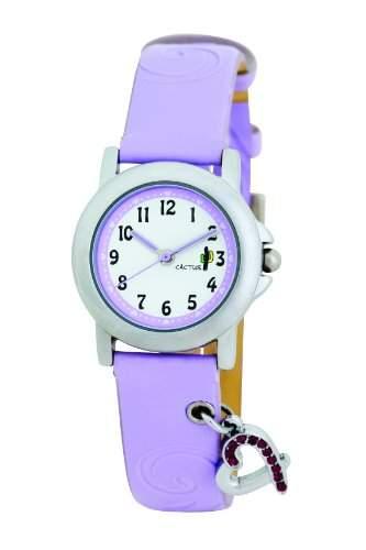 Cactus Maedchen-Armbanduhr Analog Plastik Violett CAC-52-L09