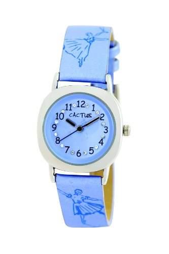 Cactus Maedchen-Armbanduhr Analog Kunststoff blau CAC-54-L04