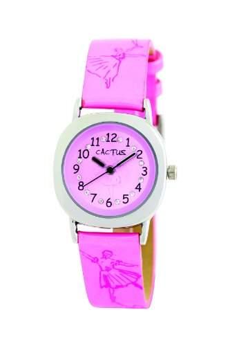 Cactus Maedchen-Armbanduhr Analog Plastik Rosa CAC-54-L05